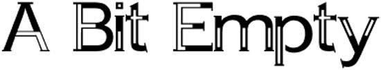A Bit Empty, tipografía gratuita para creativos y profesionales