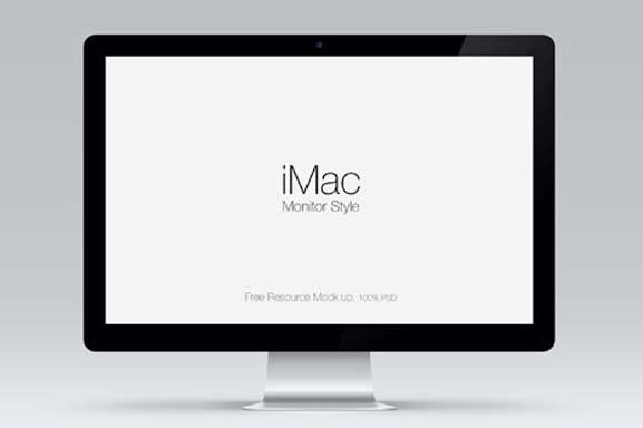 iMac en PSD, Mock Up para trabajar
