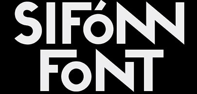 Sifonn Font, fuente tipográfica divertida y saludable
