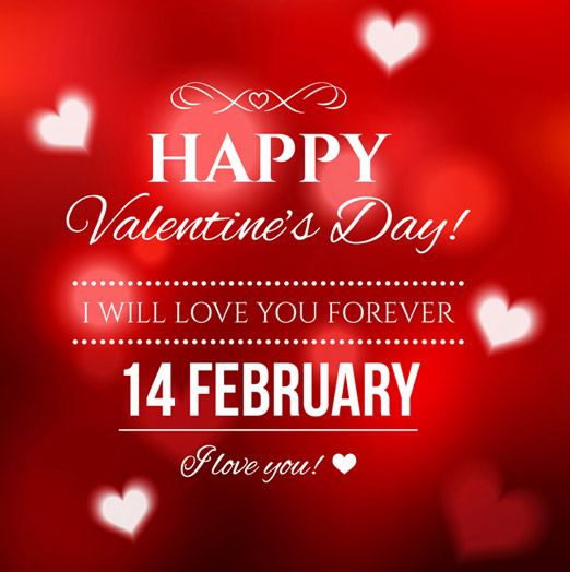 Tarjeta de San Valentín interesante creativa con fondo rojo