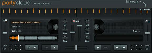 Partycloud, sistema de edición musical en línea