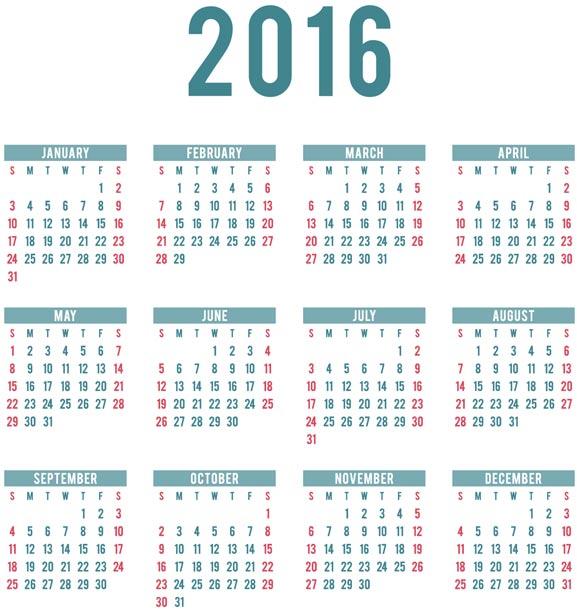 calendario 2016 gratis para descargar